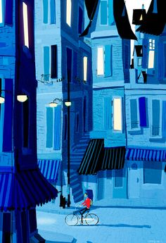 I really like these almost-monochrome geometric landscapes. Reminds me of Monsters Inc and sundry other animated movies. theartofanimation/Pascal Campion