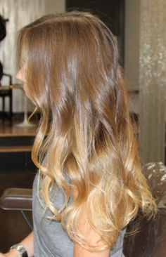 I love the idea of having different tones in your hair, and dark-to-light is stunning!
