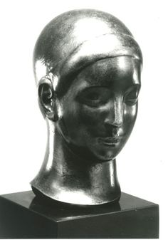 """""""Ideal Head"""", 1921-1923, Gaston Lachaise, American, b. France (1882-1935), bronze, 5 1/2 x 3 1/4 x 3 1/2 in. Museum purchase, 1987. 1987.3909"""