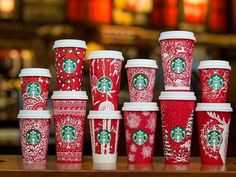 Red Cups, Chrismas Starbucks