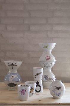 Keramická biela miska Flower stamp 400 ml