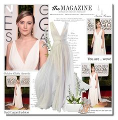 """""""Saoirse Ronan at 73rd Annual Golden Globe Awards!!"""" by lilly-2711 ❤ liked on Polyvore featuring H&M, Elie Saab, Oscar de la Renta, Badgley Mischka, Belpearl, women's clothing, women's fashion, women, female and woman"""