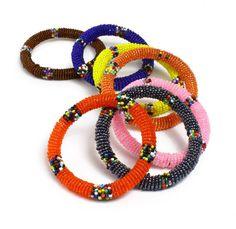 Maasai Beaded Bracelets - Round (J-B635)