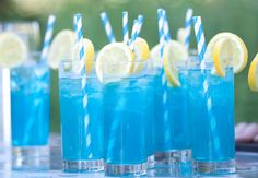 Something Blue Blue Curacao Cocktail Recipe 30ml vodka 15ml blue curacao lemonade Fill a highball glass with ice, add the vodka and blue curacao and top up with lemonade, stir and serve.
