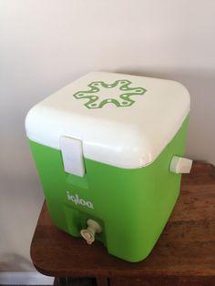 Vintage Igloo cooler drink dispenser green 1 gallon. $24.00, via Etsy.