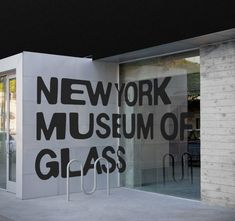 Creative Glass, Environmental, Graphics, York, and Museum image ideas & inspiration on Designspiration Environmental Graphic Design, Environmental Graphics, Wayfinding Signage, Signage Design, New Museum Nyc, Glass Signage, Cool Optical Illusions, Awesome Illusions, Outdoor Signage
