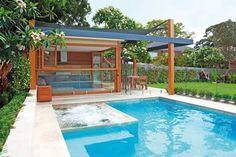 Image result for backyard pool cabana ideas
