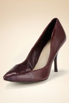 Autograph Leather Pointed Toe Court Shoes