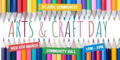 Promote your arts and craft day with a colorful Twitter post.