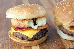 Mozzarella-Sticks-Topped Cheeseburgers