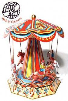 Royal Equestrian Carousel: Original German Tin Toy