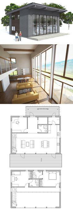 Just okay, but definitely modern, open, lots of light. Don't love the kitchen. I'd flip the master suite and second bedroom, expand the master suite to have a WIC, and then add a third bedroom over the kitchen. Would also keep the kids from chucking things onto the counters/stove/dining table. :) Add garage at back. I'd prefer upstairs laundry...