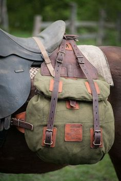 Horse saddlebags #066. Leather and canvas on Behance