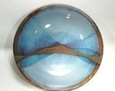 Image result for how to glaze a ceramic platter with landscape