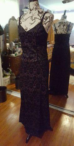 Rare Lip Service Long 2 piece jaquard Dress  gown purple black L XL  #LipService #LongDress #Any