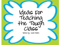 This unit contains ideas from the book, You Can't Teach a Class You Can't Manage by Donna Whyte.  I love this book and am going to use her ideas th...