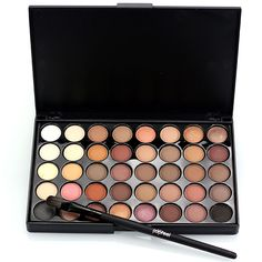 2016 New Pigments Matte Eyes Shadow Makeup Sets With Brushes Waterproof 40 Color Smoky Eyeshadow Glitter Palette Nude Makeup