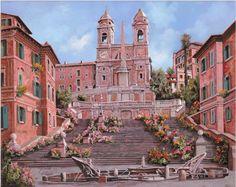 Regilla ⚜ La scalinata di Piazza di Spagna, Roma by Guido Borelli