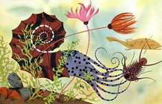 Charley Harper, Golden Book of Biology, click for larger image