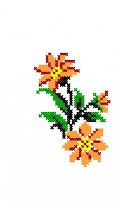 Easy Cross Stitch Patterns, Simple Cross Stitch, Home Embroidery Machine, Hand Embroidery, Mosaic Flowers, Hardanger Embroidery, Tapestry Crochet, Christmas Cross, Floral Motif