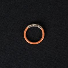 By Boe, LEATHER BAND RING - ORANGE