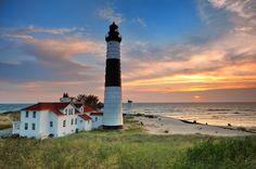 Big Sable Point Lighthouse - Ludington , Michigan by John McCormick on 500px