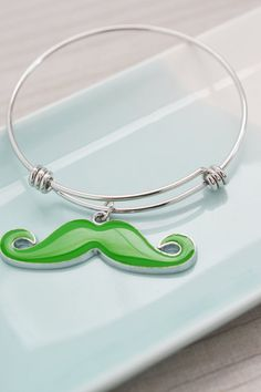 mustache charm bangle jewelry, mustache bracelet, bridesmaid gift, christmas gift idea, stacking bangle, silver bangle, friendship gift idea
