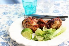 Grilled Quail with BokChoy