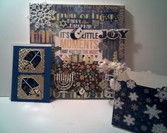 HANNAKUH Picture Frame GIFT SET Stunning card by CathysCraftWorld