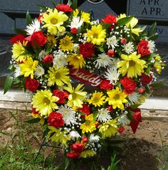 Father's Day Wreath I put on his grave, it was my first without him in  53 years.