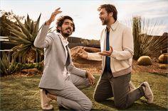 Dev Patel and Javier Bardem star in Ermenegildo Zegna's spring-summer 2018 campaign.