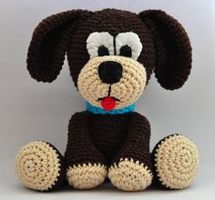 crochet pattern amigurumi dog pdf English by MOTLEYCROCHETCREW