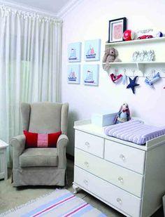 Photo's taken by: Emielke Stylist: Joanita Cillie  For more about this theme, visit yourparenting.co.za Nautical Nursery, Nursery Decor, Get Baby, Kids Room, Table, Furniture, Home Decor, Room Kids, Decoration Home