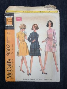 McCall's 9502 Pattern // Misses' 60's Dress in by ElkHugsVintage, $8.00