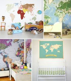 Decorating Children's Spaces with Maps & Globes by Mini Piccolini