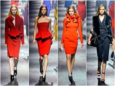 Lanvin does peplums and rich hues
