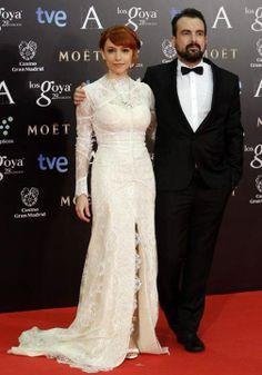 Alice Waddingtonm de Yolan Cris junto a Nacho Vigalondo en los Premios Goya 2014