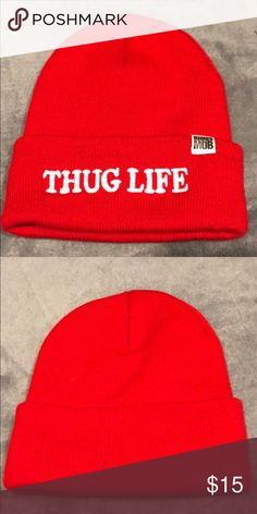 77119219d149e Shop Women s Married to the Mob Red size OS Hats at a discounted price at  Poshmark. Description  Red THUG LIFE Married to the Mob beanie
