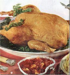 Three complete mid-century Thanksgiving Menus - Turkey, duck and chicken!