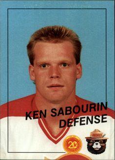 salt lake golden eagles trading cards   1988 89 Salt Lake Golden Eagles 19 Ken Sabourin   eBay