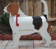 custom painted Beagle Mailbox