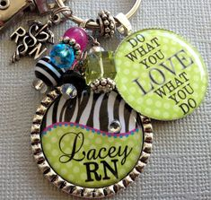 Do what you love - PERSONALIZED Name Keychain  - nurse graduate, RN nurse, cardiac nurse, x-ray technician, paramedic, NICU nurse. $23.50, via Etsy.
