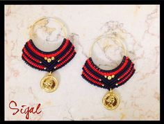 Micro macrame earrings tribal style