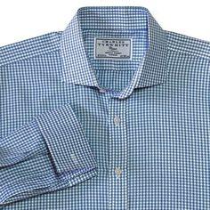 Charles Tyrwhitt Classic Shirt 16 1/2-34 French Cuffs Spread Collar Blue Office #CharlesTyrwhitt #ButtonFront