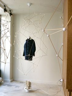 We love these Molecule-esque displays for Isabel Marant. Very cool. #design #windowdisplay
