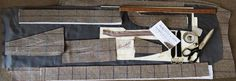 Tailors tools on Clune Estate Tweed