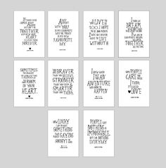 SALE! Disney Winnie the Pooh quote prints nursery decor, inspirational quote kids wall art, christmas gifts, pooh poster set of 10, ET204