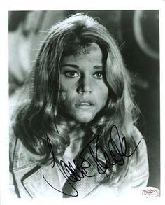 Jane Fonda 'Vintage Pose' Signed 8x10 Photo Certified Authentic JSA