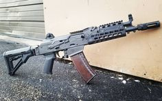 We have a surprise for the SBR crowd! We got our hands on some Saigas and built a small batch of Assnecks! Available both in and They are not listed on our website, please call the shop to order one! Tactical Equipment, Tactical Gear, Krebs Custom, Rifles, Battle Rifle, Ak 47, Cool Guns, Assault Rifle, Guns And Ammo