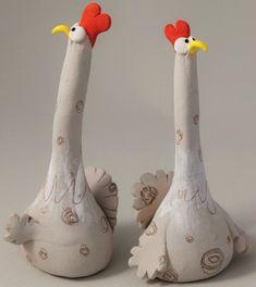 """""""Two Suspicious Chickens"""" - Ana Bossa (stoneware)"""